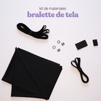 Kit de materiales Bralette de tela