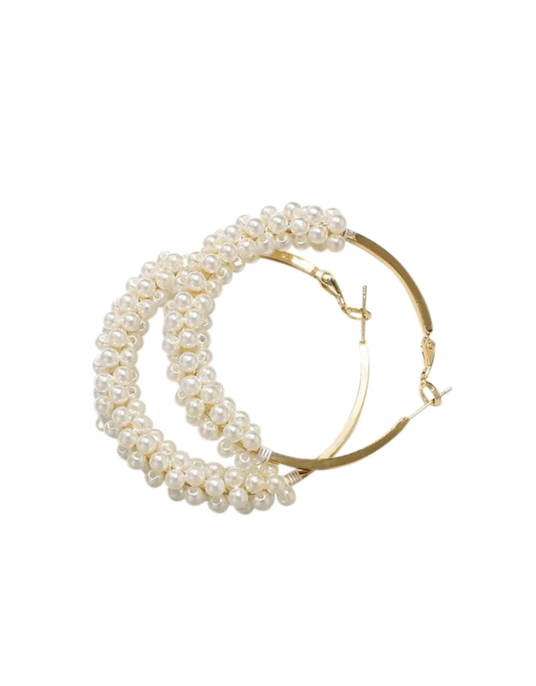 Statement Pearl Hoop Earrings