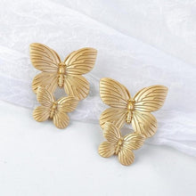 Load image into Gallery viewer, Lovely Butterfly Stud Earrings