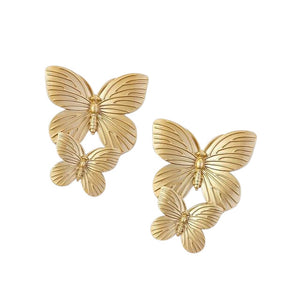 Lovely Butterfly Stud Earrings