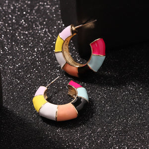 Colorful Mini Hoop Earrings