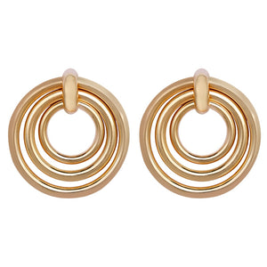 Elegant Layered Round Earrings