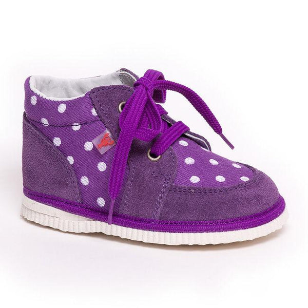 First shoes - Purple dots - Mamastore
