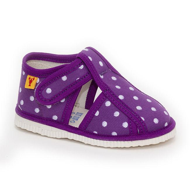 Slippers - Purple Dots - Mamastore