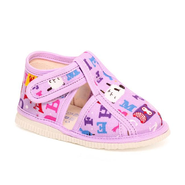 Slippers - Purple alphabet - Mamastore