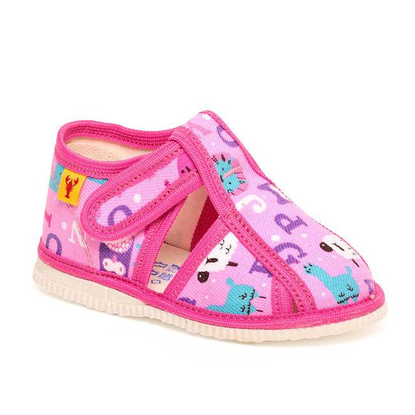 Toddler slippers - Pink Alphabet - Mamastore
