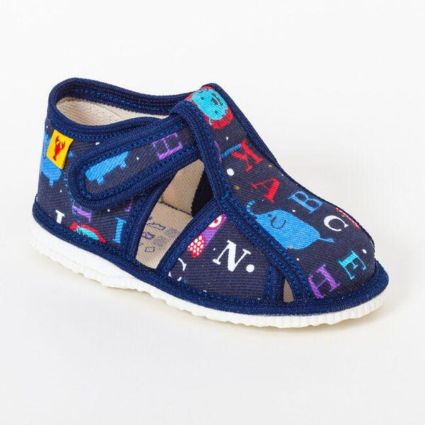 Slippers - Blue alphabet - Mamastore