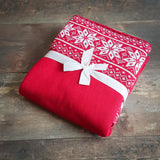 Winter baby blanket - Swiss Chalet Red - Mamastore