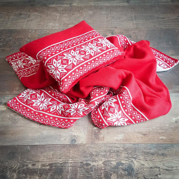 Pillow Swiss Chalet Red - Mamastore