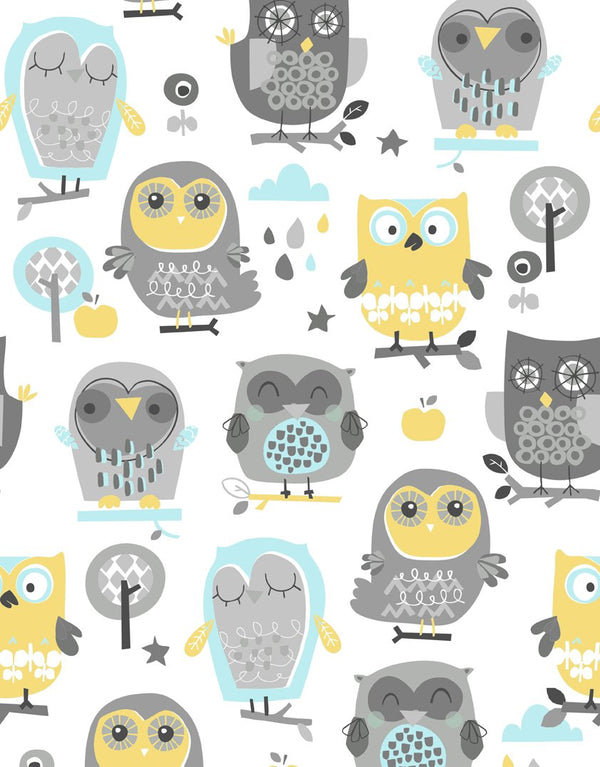 Anti-shock baby pillow - Joyful owls - Mamastore