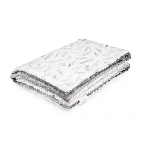 Cuddly baby blanket - Silver feathers - Mamastore