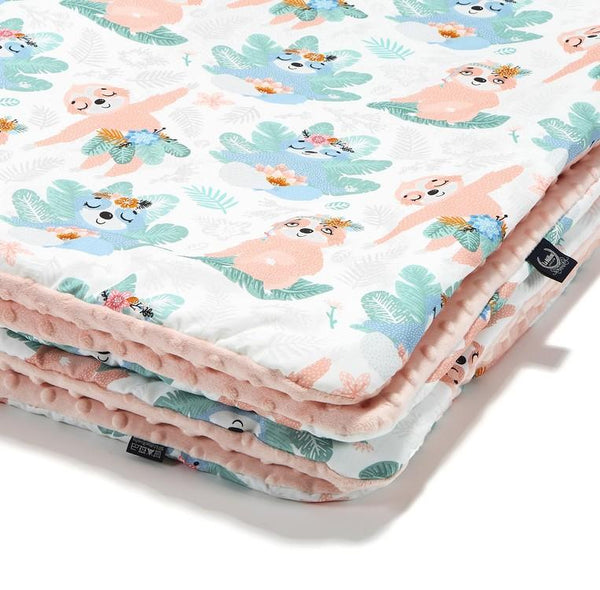 Cuddly baby blanket - Yoga candy sloth powder pink - Mamastore