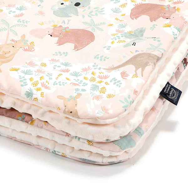 Cuddly baby blanket - Dundee and friends Pink-ecru