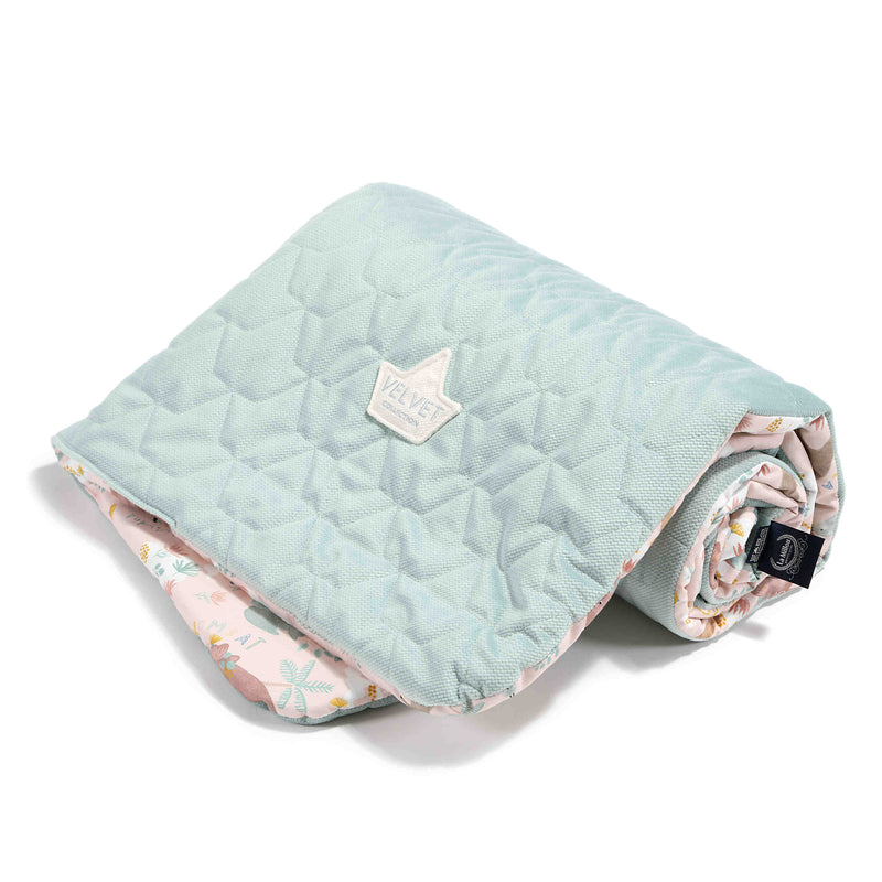 Cuddly baby blanket - Dundee and friends Pink-Mint