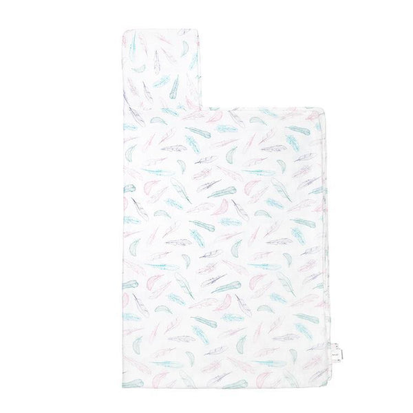 Supersoft Muslin Towel with hood - Powder feathers - Mamastore