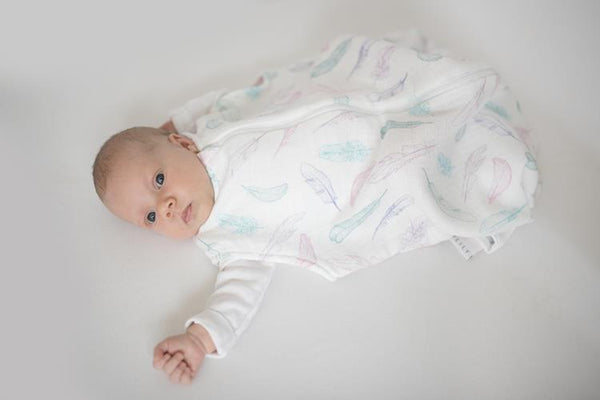 Summer ThermoBalance baby sleeping bag - Powder feathers