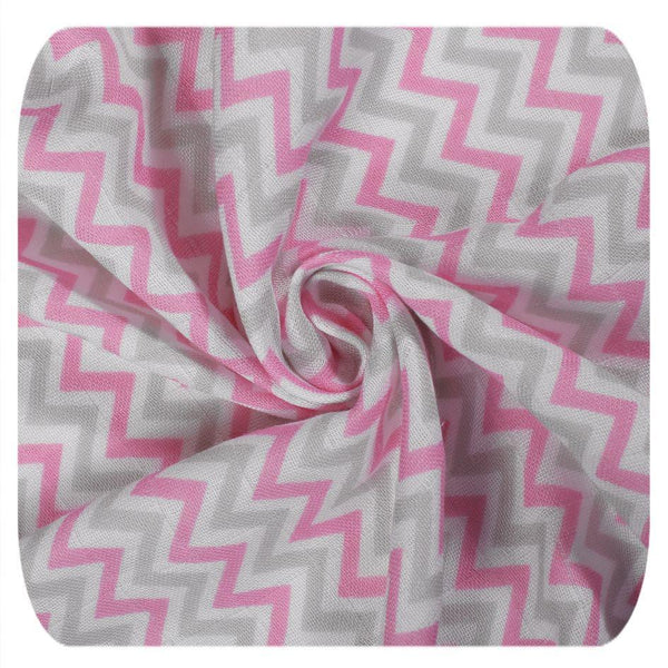Multi-use swaddle - Chevron baby pink - Mamastore