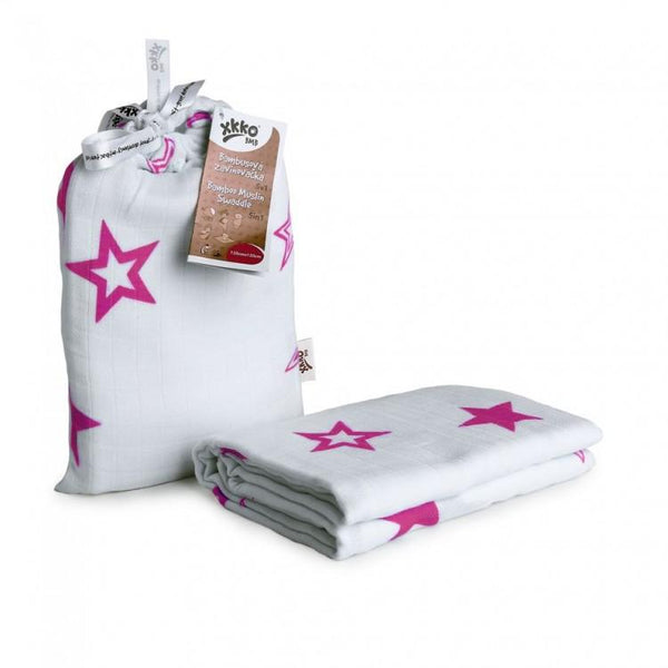 Multi-use swaddle - Magenta stars - Mamastore