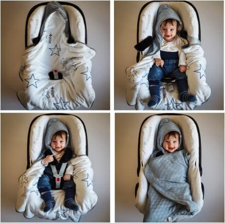 Car seat wrap - Grey Squares - Mamastore