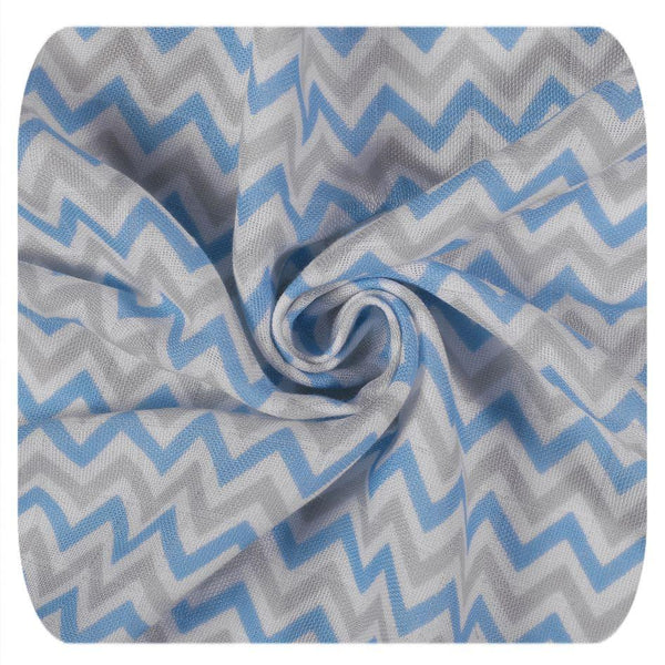 Multi-use bamboo muslin Trio-pack  - Scandinavian baby blue - Mamastore