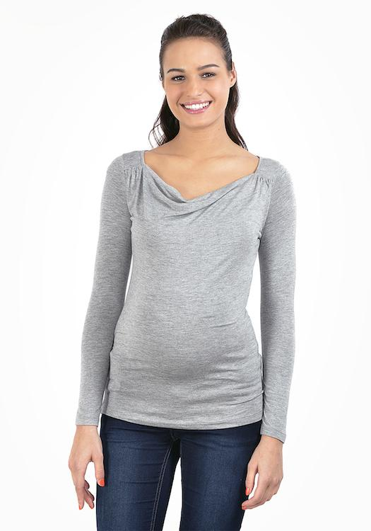 2in1 pregnancy and nursing top - Silver - Mamastore
