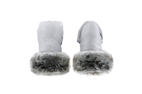 Stroller handmuffs - Elegant light grey - Mamastore