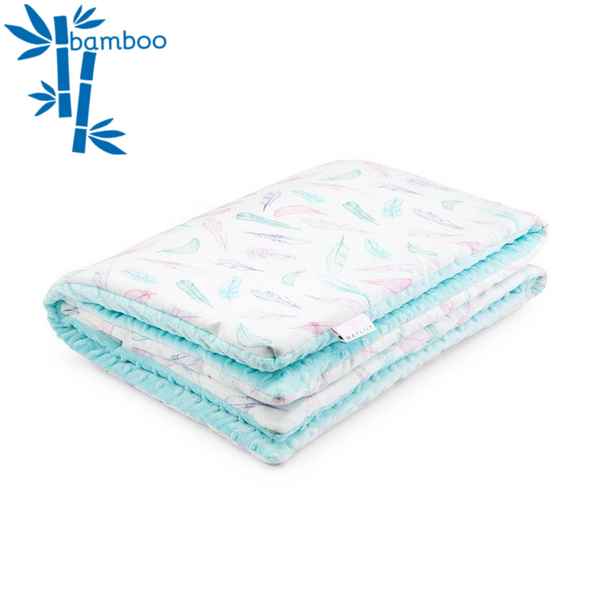 Cuddly baby blanket - Heavenly feathers - Mamastore