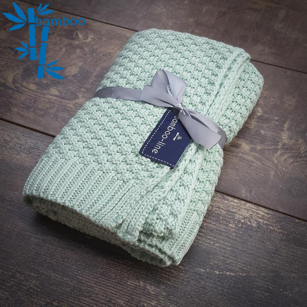 Bamboo baby blanket - Modern mint - Mamastore