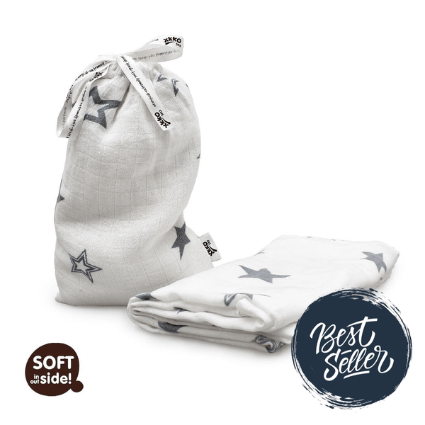 Multi-use swaddle - Silver stars - Mamastore