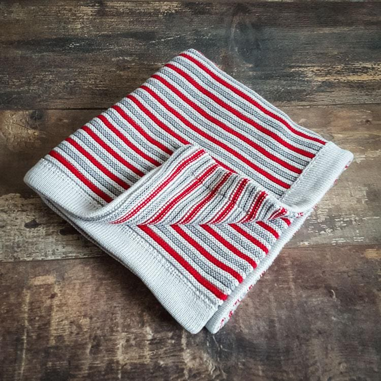 Spring & autumn blanket - Red&Grey - Mamastore