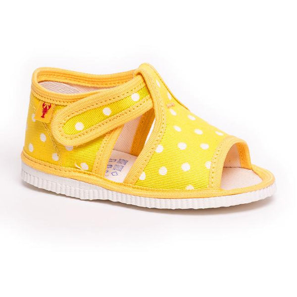 Slippers - Sunshine dots with open front - Mamastore