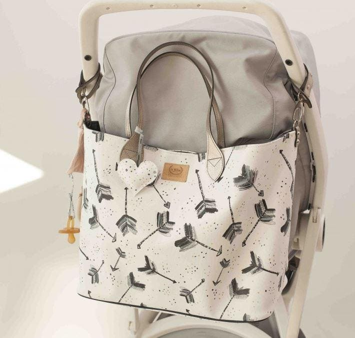 Stroller bag L size - Boho arrows white - Mamastore