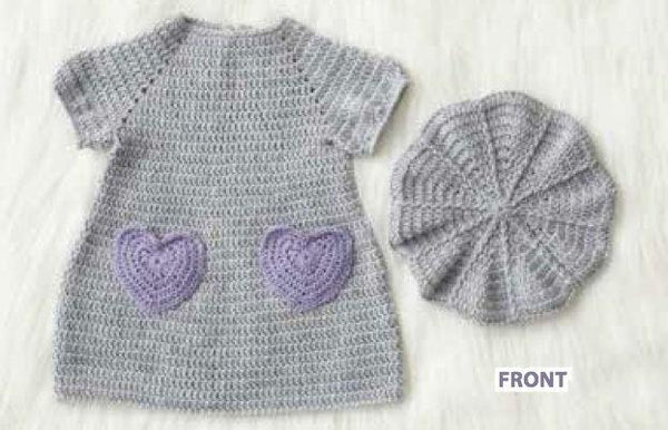 Handmade dress for baby girl PURPLE - Mamastore