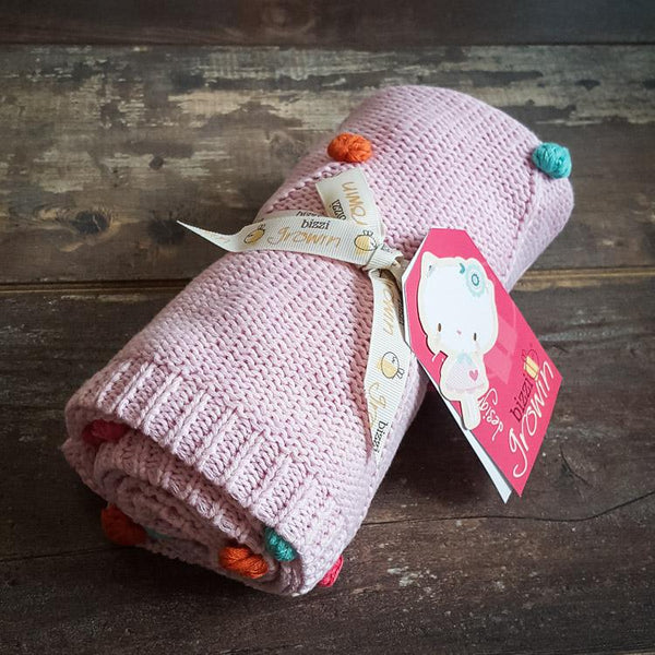 Spring & autumn kids blanket - Happy Bobbles - Mamastore