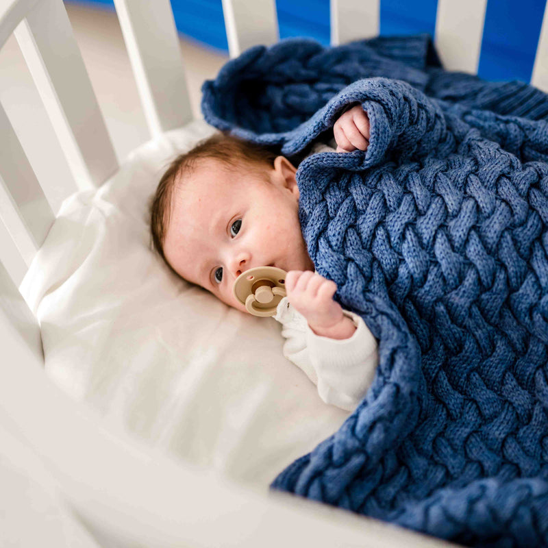 Merino baby blanket - Evergreen