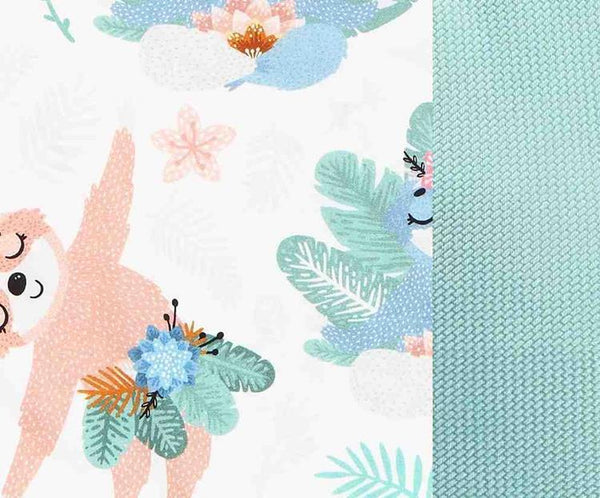 Stroller pad - Yoga candy sloth MINT - Mamastore