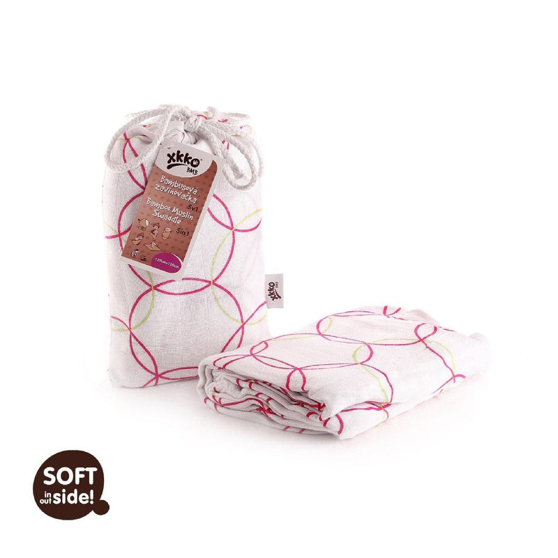 Multi-use swaddle - Magenta circles - Mamastore