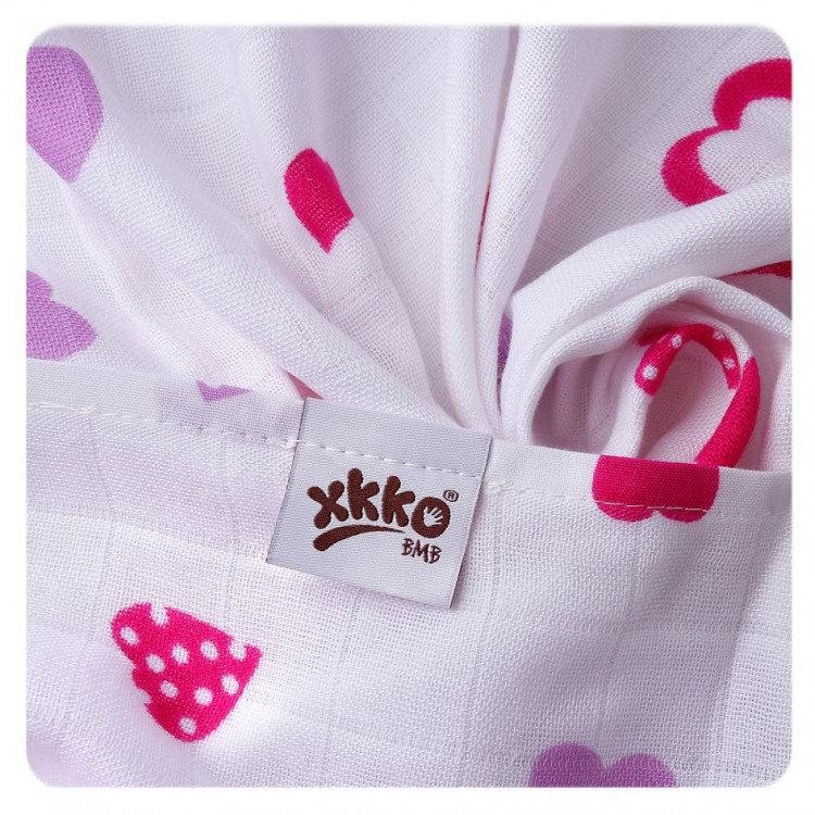 Supersoft Muslin Towel - Lilac Hearts - Mamastore