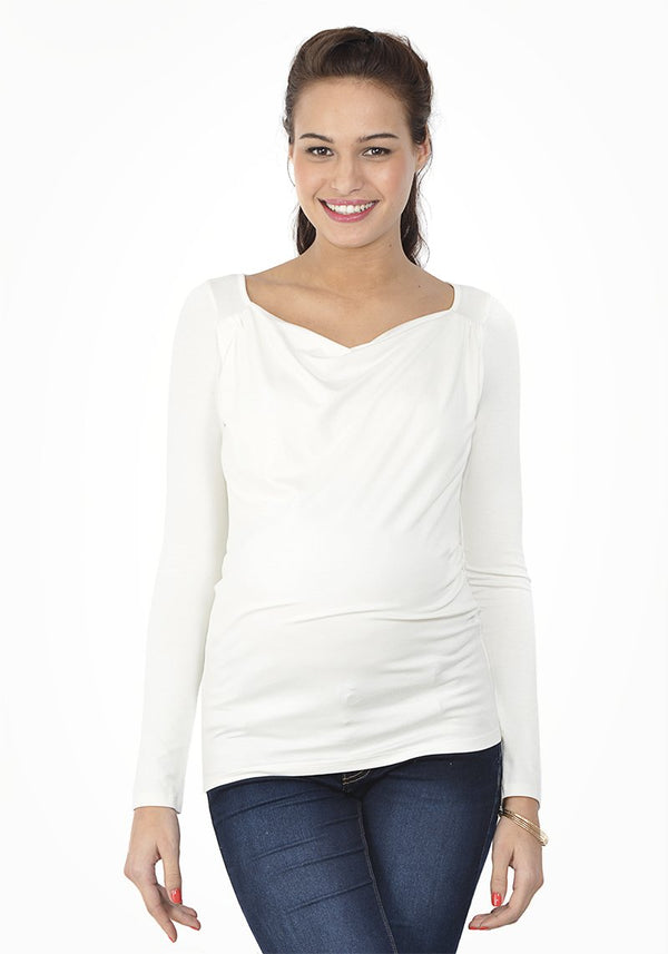 2in1 pregnancy and nursing top - Ecru - Mamastore