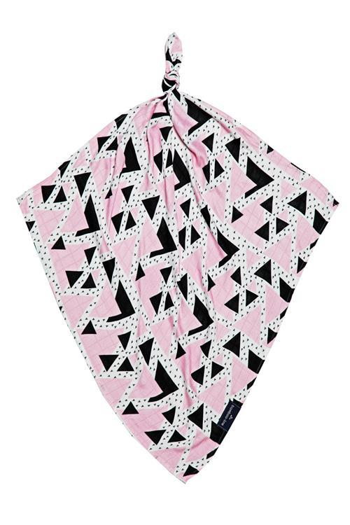Multi-use swaddle - Pink Triangles - Mamastore