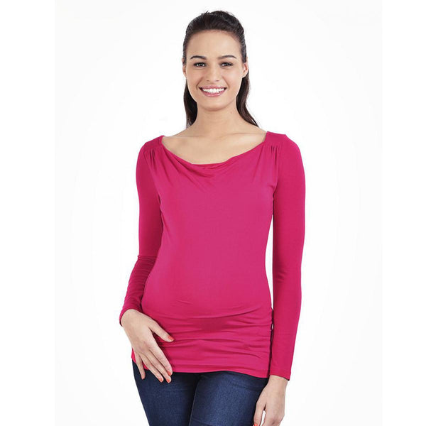 2in1 pregnancy and nursing top - Fuchsia - Mamastore