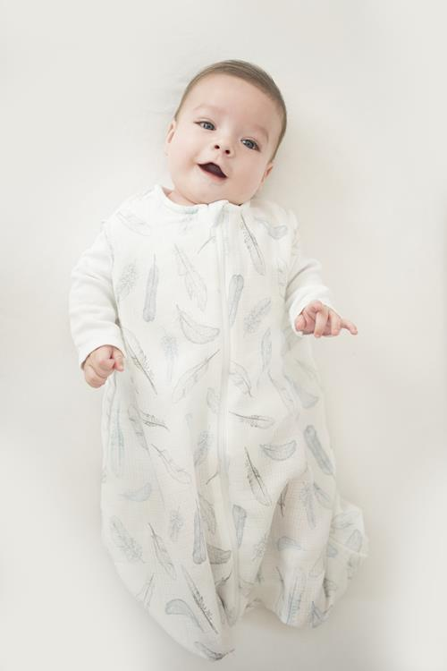 Summer ThermoBalance baby sleeping bag - Heavenly feathers - Mamastore