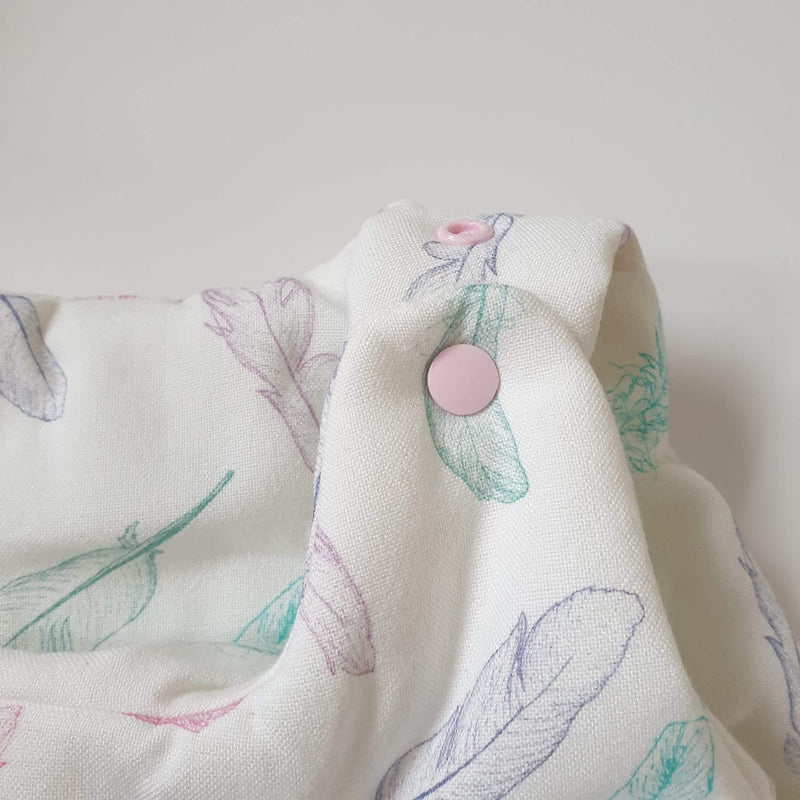 ThermoBalance baby sleeping bag - Powder pink feathers - Mamastore