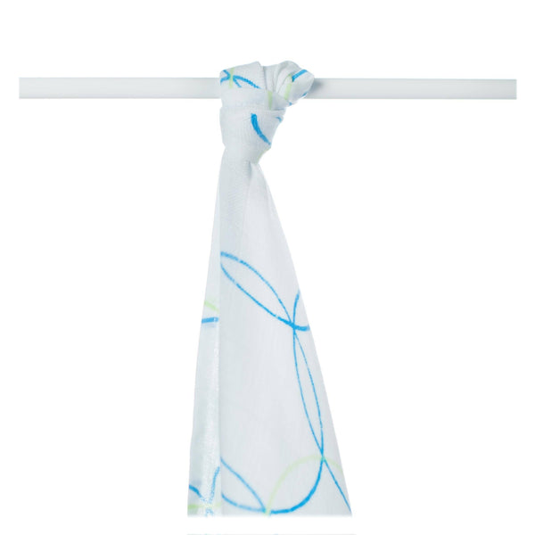 Supersoft Muslin Towel - Cyan Circles - Mamastore