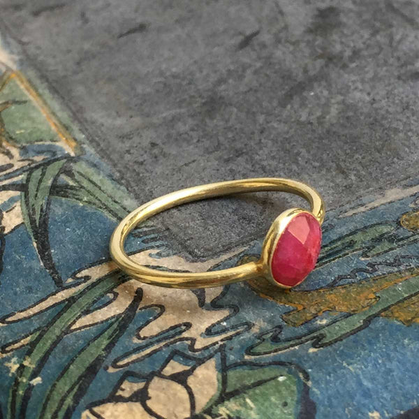ring *laia* pink stone