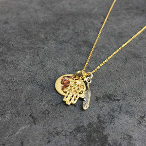 'talismans' multi pendant necklace | 24k gold-plated