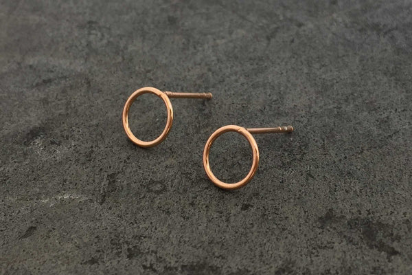 hoop earstuds - rose gold plated