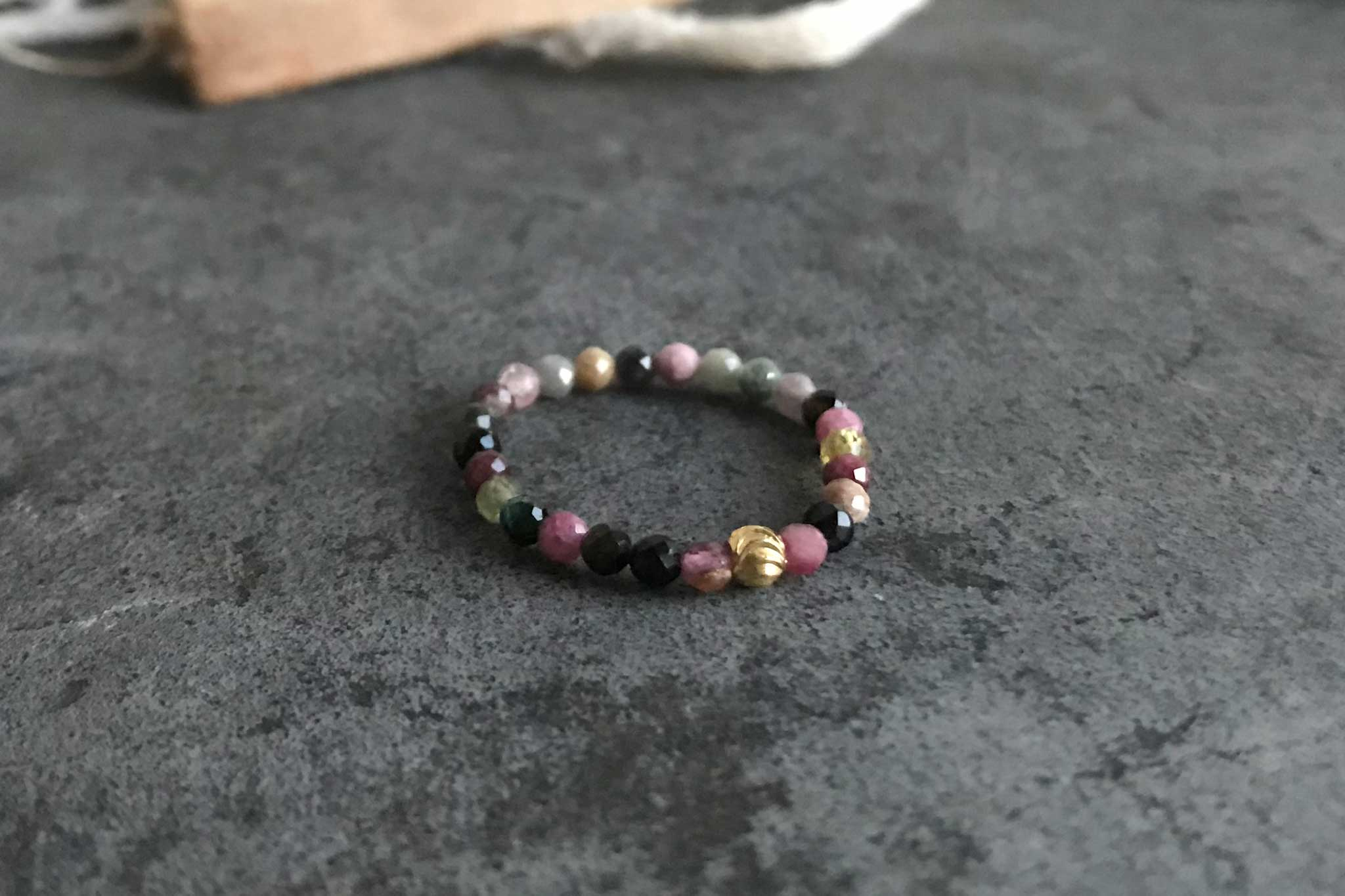 tourmaline adjustable ring