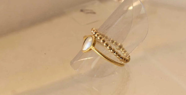 925 silver ball ring gold-plated