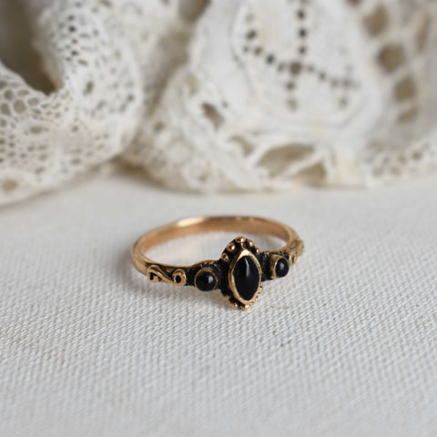 onyx | 'eva' ring | bronze